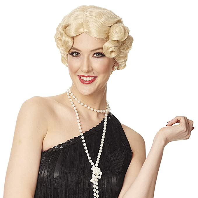 1920s Flapper Headband, Gatsby Headpiece, Wigs Franco Daisy Roaring 20s Gatsby Womens Costume Wig One Size $13.91 AT vintagedancer.com