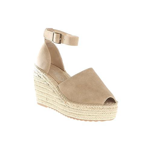 Alpargatas Plataforma DE 4 cm y Cuña DE 10 by Vencastyle,Beige,36: Amazon.es: Zapatos y complementos