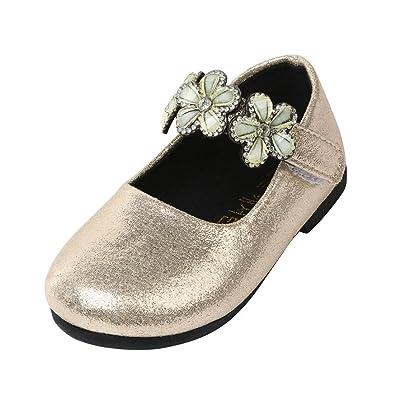 Sunbona Toddler Little Girls Dance Ballet Flats Princess Mary Jane Ballerina Casual Flat Loafers Shoes