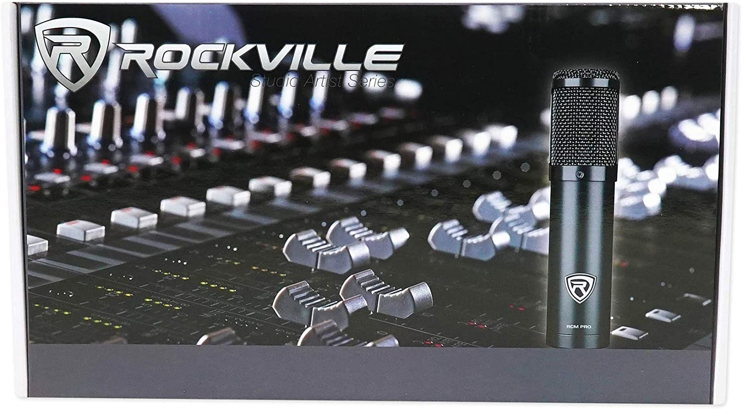 Rockville RCM PRO Gaming Twitch Microphone Streaming Recording PC Game Mic+Boom
