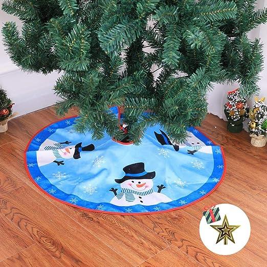 Odot Falda del árbol de Navidad, 80cm Suave Alfombra de Árbol ...