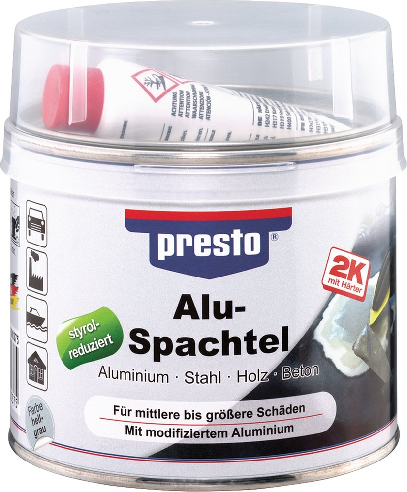 Alu-Spachtel grau, 1.000 g NoName