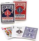 Bicycle Pinochle Playing Cards (Colors May Vary)