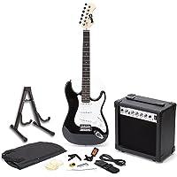RockJam Full-size elektrische gitaar Superkit met gitaarversterker Gitaarsnaren Gitaar tuner Gitaarriem Gitaarkoffer en…