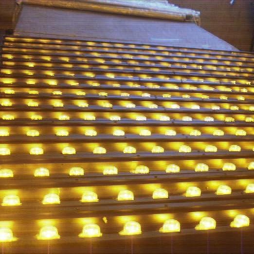 Classe di Efficienza Energetica A + 8 Potenze, AMDHZ Luci da Terra Segnapasso LED Esterno Luci da Terra IP67 Impermeabile 220V Le Scale Parco Piazza Color : A, Size : 3W 8 Colori