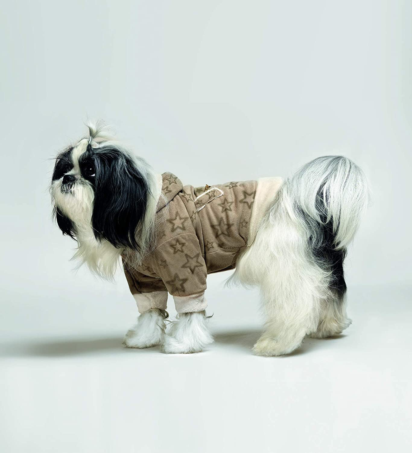 Cuccicù Cuccistar Microfibre Coat with Glitter Embroidery for Dogs Size 21 Collection Made in