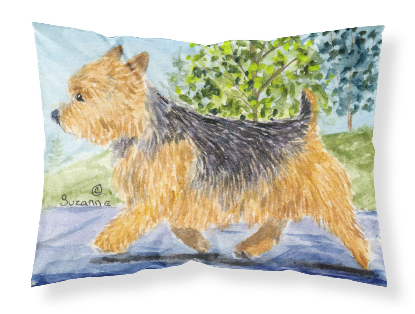 Multicolor Carolines Treasures SS8879PILLOWCASE Norwich Terrier Moisture Wicking Fabric Standard Pillowcase Large