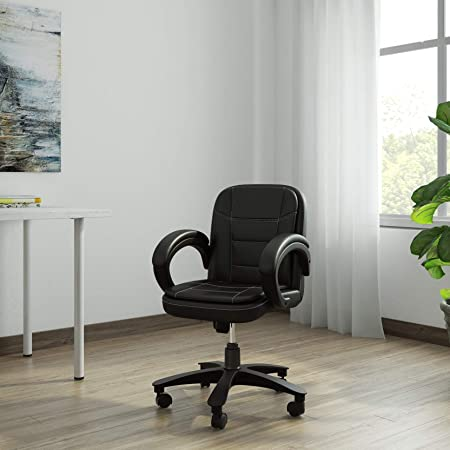 DZYN Furnitures Baxtonn Executive Office Chair in Black Leatherette