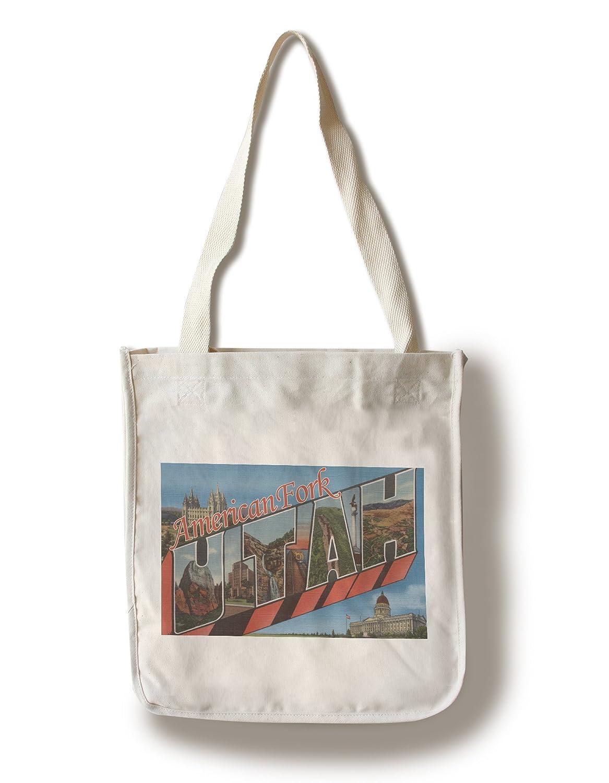 アメリカンフォーク、ユタ州 – Large手紙シーン Canvas Tote Bag LANT-10249-TT B01AW4PH8I  Canvas Tote Bag