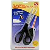 New Laser Guided Fabric Scissors Cuts Fast Straight Professional Straight Easy