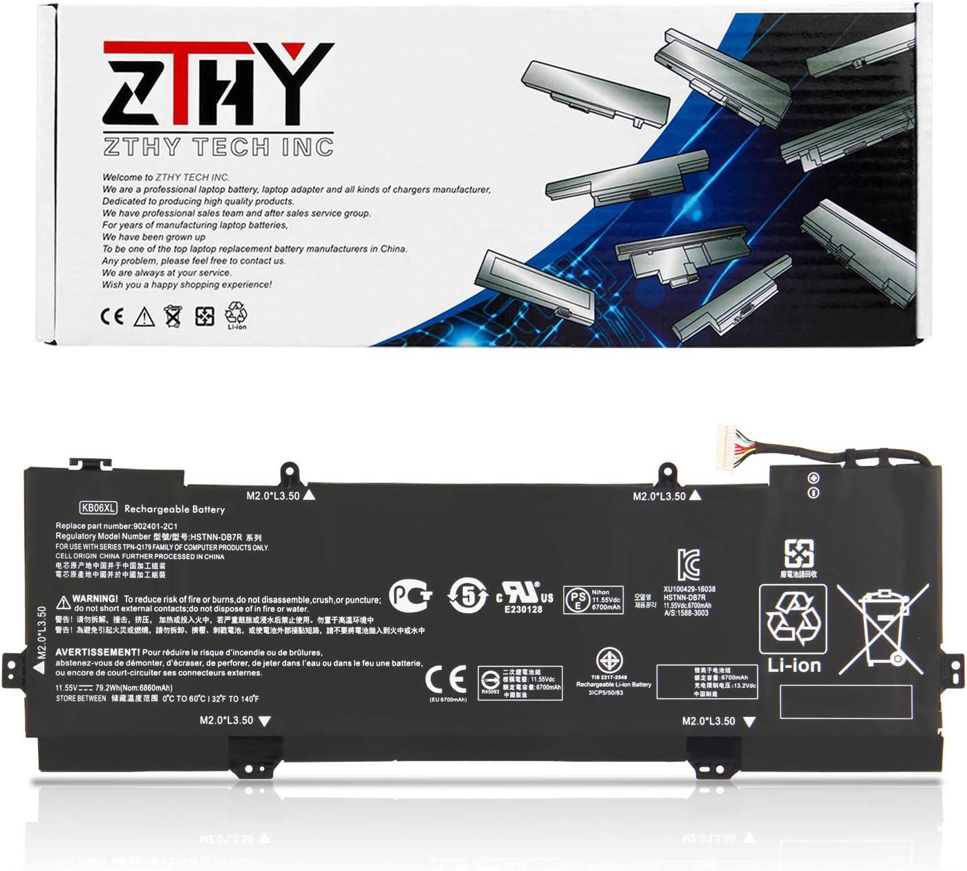 """ZTHY 79.2Wh KB06XL Laptop Battery for HP Spectre X360 Convertible 15"""" 15-BL0XX 15-BL1XX BL012DX BL000NA BL000NL BL001NX BL100NA BL110ND BL101NA BL101NG BL112DX BL131NG BL075NR BL090NZ BL062NR BL152NR"""
