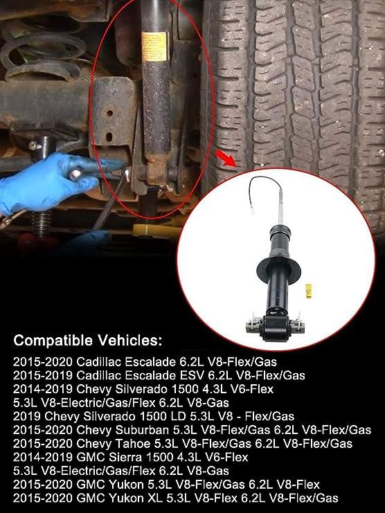 XL 84176631 580-1108 Pair Front Shock Absorber w//Magnetic Control for 2015-2020 Cadillac Escalade Tahoe Suburban Silverado GMC Sierra 1500 Yukon