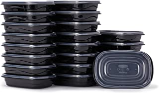 product image for Rubbermaid TakeAlongs Food Storage Containers, Set of 22 (44 Pieces Total) | for Meal Prep, Lunch for Adults & Kids | Reusable & Stackable, 4-Cup, 22-Pack, Black