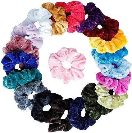 Women Velvet Hair Scrunchies Elastic Scrunchy Bobble Ponytail Holder Rubber Band
