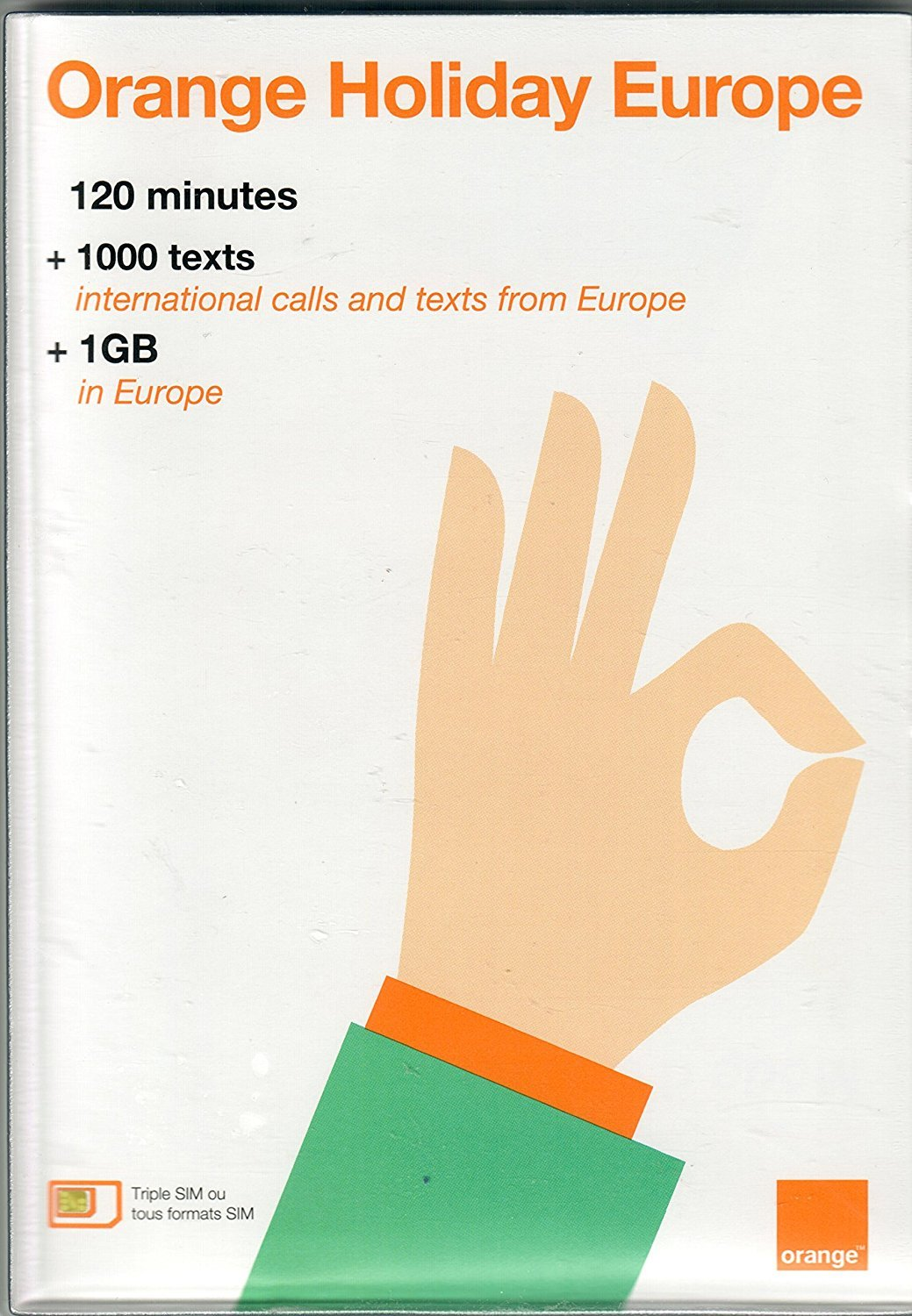 Orange Holiday Europe - prepaid SIM card (120 mn, 1000 SMS ...