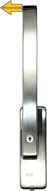 GU Schiebet/ür PSK Drehgriff abschlie/ßbar DIRIGENT 966//976 DIN Rechts Edelstahl mit Aussperrsicherung