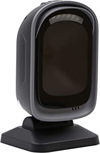 TEEMI Handsfree 2D QR Desktop Barcode Scanner, 1D Handheld Automatic Omnidirectional USB Reader CMOS Image Sensor, Large Scanning Window Capture Screen Codes, TMSL-72