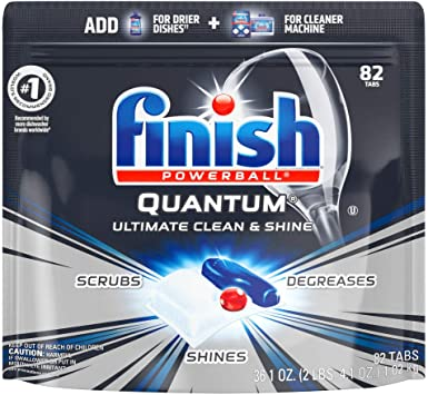 Amazon.com: Finish Quantum - Pastillas de detergente para ...