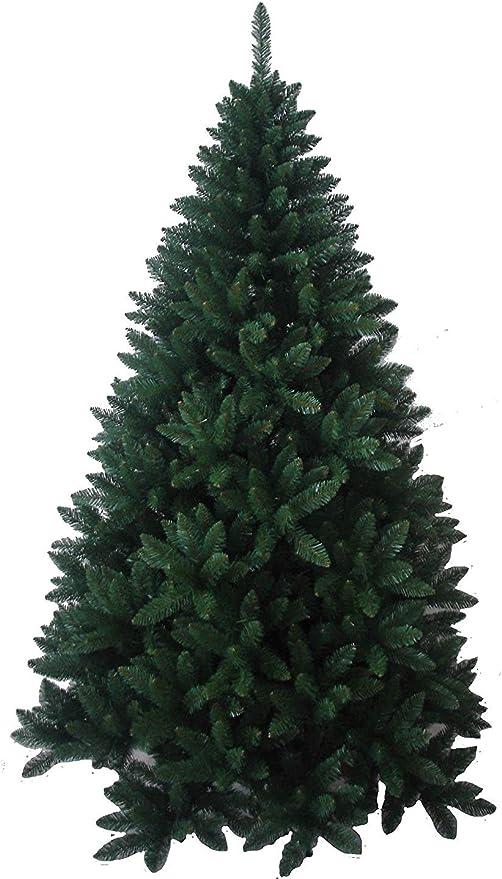 Albero Di Natale Folto.Pebshop Albero Di Natale Folto Verde H 150 Cm Rami 760 Base O 111 Cm Amazon It Casa E Cucina