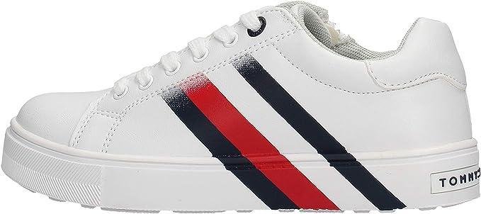 Tommy Hilfiger T3B4 - Zapatillas deportivas blancas para niños T3B4-30721: Amazon.es: Zapatos y complementos
