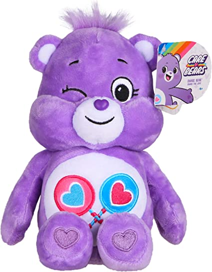 Message Recorder Stuffed Animals, Amazon Com Care Bears Share Bear Bean Plush Toys Games