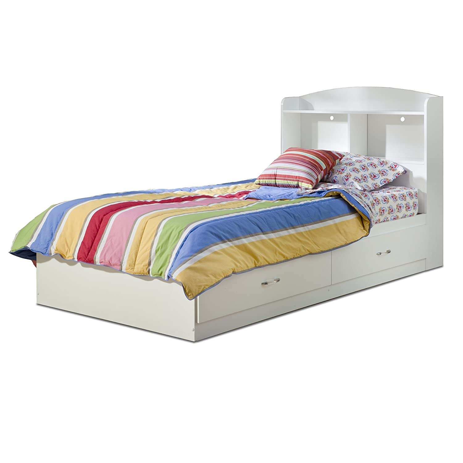 Amazon South Shore Logik Collection Twin Mates Bed Pure