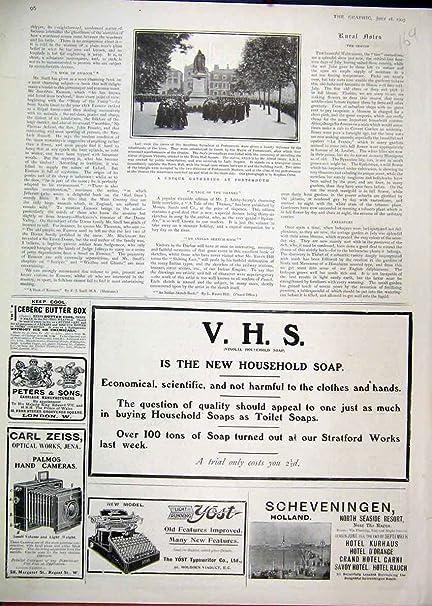Máquina De Escribir 1903 De Yost Del Jabón Del Hogar De Vinolia Del Anuncio [Cocina