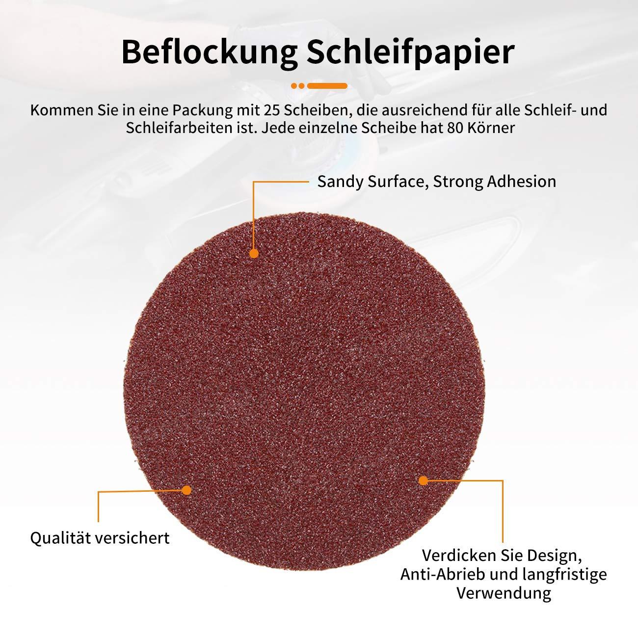 Dyna-Living 25 stücke Schleifscheiben Klett Schleifpapier 3 ... on