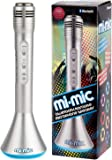 Mi-Mic Kids Karaoke Microphone Speaker with Wireless Bluetooth and LED Lights, Silver