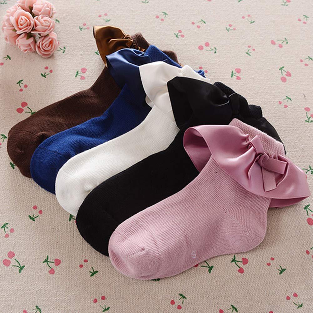Queta Grils Calzini Caldi Coreano Elegante Lovely Volant e Papillon Calzini Invernali Calzini Cute Bambino Cotone Socking S