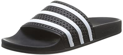 pretty nice f37ce f0f23 adidas Originals Adilette Bathing Shoes, Color Black White EU Shoe Size