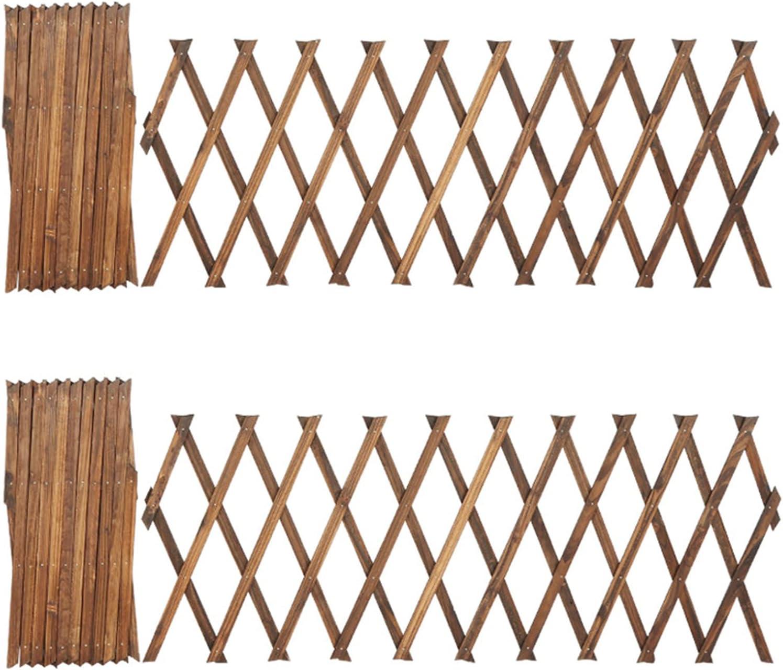 Mokylor 2pcs Wood Picket Garden Fence, Decorative Wooden Picket Fence Garden Fence Rattan Fence, Garden Yard Border Edging Panels Posts Flower Plants Pool Fences