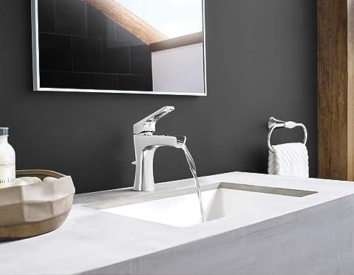 Pfister LG42-MF1K Pfister LG42MF1 Kelen Single Hole Bathroom Faucet with Waterfall Spout