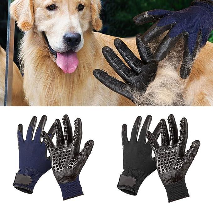 Daoxu Guantes Masaje para Mascotas perros gatos - Guante Suave para Cepillado y Eliminación de Pelo - Guantes Eficientes para la Eliminación de Pelo Suelto ...