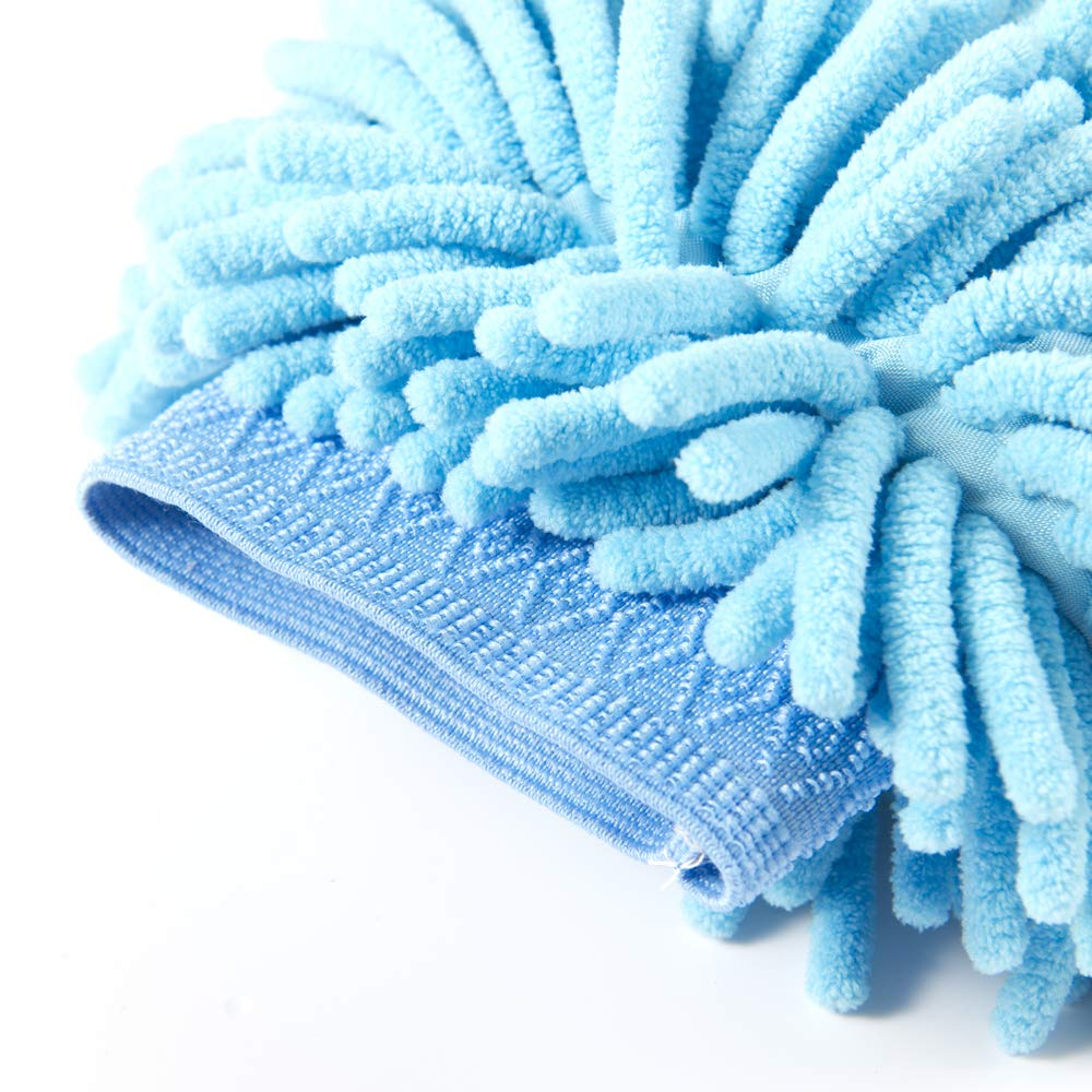 Car Wash Towels Drying Cleaning Cloth,Scratch Free,Lint Free Car Wash Mitt-2 Pack Extra Large Size,Chenille Microfiber,Car Care Microfiber Wax Applicator Pads