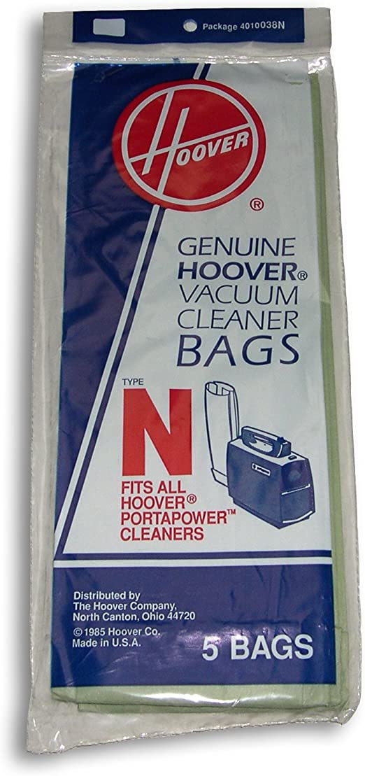 Pack of 5 Hoover Adaptor Kit with N Bags and Adaptor Porta Power