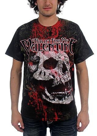 Amazon Com Bullet For My Valentine Skull Shirt Clothing