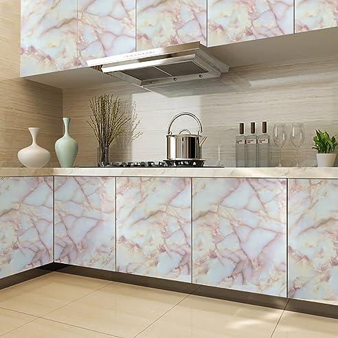 Auralum Steinmuster Küchenfolie PVC Klebefolie Dekofolie 0.61*5M ...
