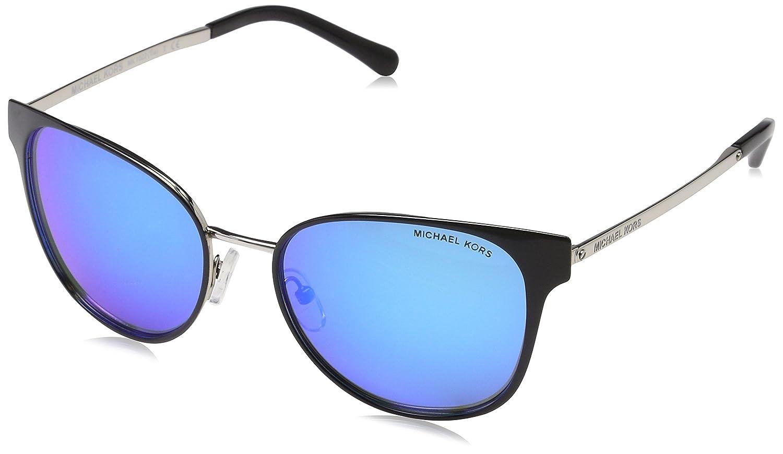 06cfa53dbd7 Amazon.com  Michael Kors Women s Tia 0MK1022 54mm Black Silver Cobalt  Mirror One Size  Clothing