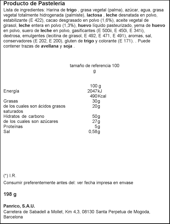 Donettes - Donettes Rayados - Paquete 7+2 uds - Total 9 uds x 22gr - Total 198g: Amazon.es: Alimentación y bebidas