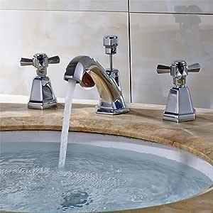 AQiMM Bathroom Sink Faucet And Supply Hose Retro-Copper ...