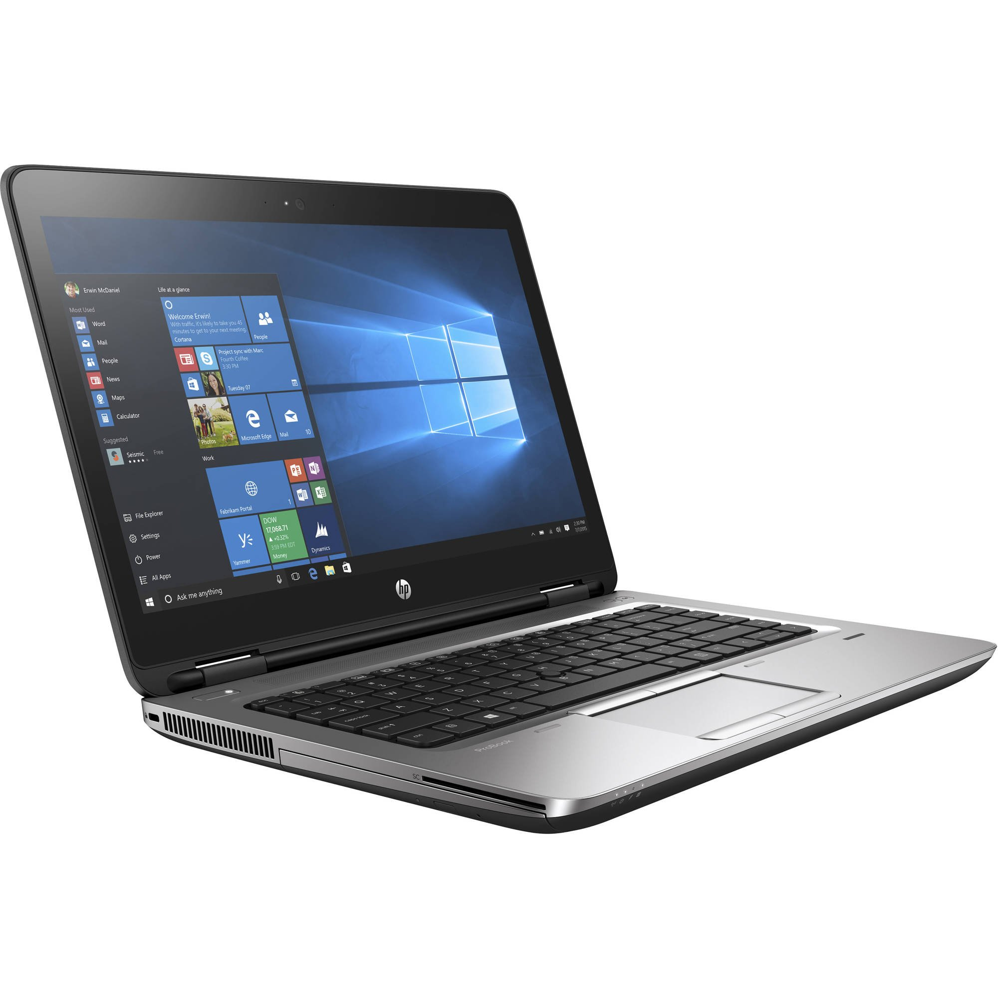 HP Probook 640 G3 Business Laptop: 14'' 1920x1080 FHD Intel Core i5-7200U, 256GB SSD, 8GB DDR4, Window 10 Professional 64-bit, Black