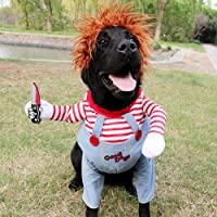Dog Funny Costume Halloween Pet Clothes Cat Cosplay Party Suit Funny Dog Costume Small to Large Dogs (Medium)