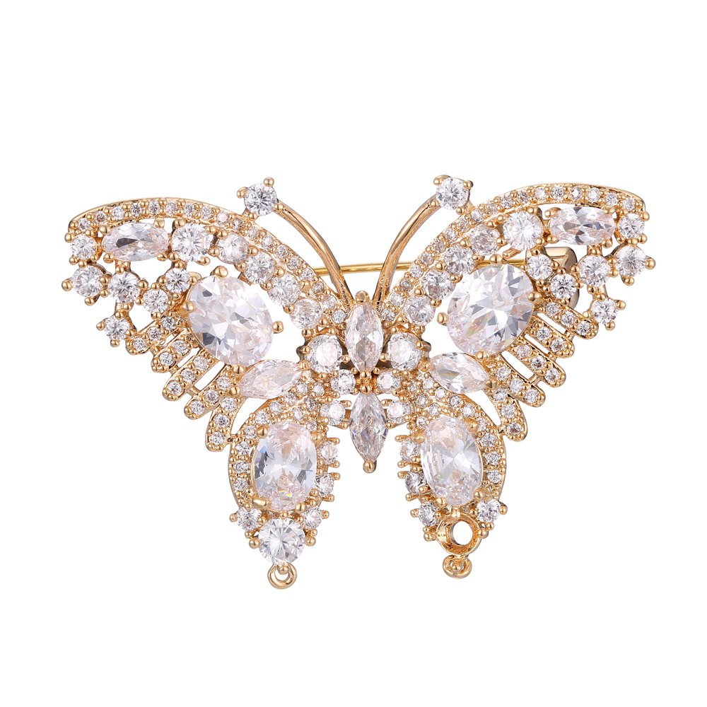 Eseres Butterfly Brooches and Pins for Women with AAA+ Zircon Luxury Gift for Wedding