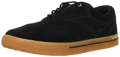 7b94f13530871 NIKE Golf Men's NIKE Lunar Swingtip Suede Golf Shoe, Black/Gum Medium  Brown/Volt, 12 D(M) US