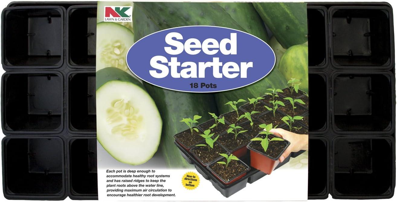 NK Lawn & Garden P180 18-Pot Seed Starter Tray