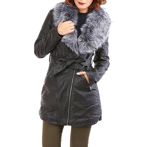 La Modeuse - Abrigo - para mujer negro Small