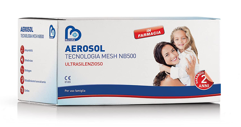 borella aerosol  Aerosol MESH NB500 Borella, silenzioso, leggero e senza fili: Amazon ...