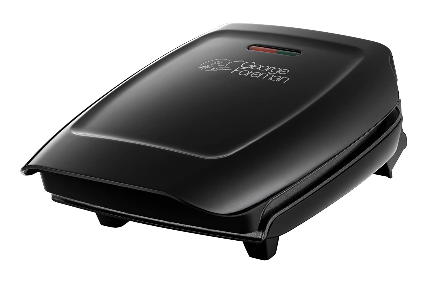 George foreman 18850 three 3 portion compact grill black and drip tray new ebay - Drip tray george foreman grill ...
