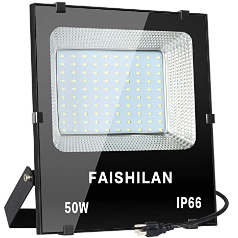 FAISHILAN 50W LED Flood Light, 50W(250W Halogen Equiv),Outdoor IP66 on